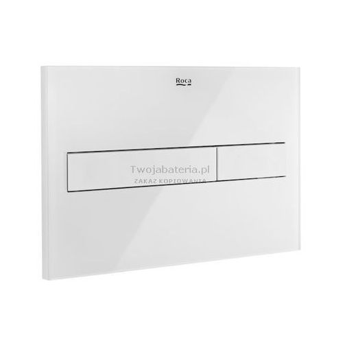 Roca przycisk spłukujący PL7 2-funkcyjny biały matszkło A890088309