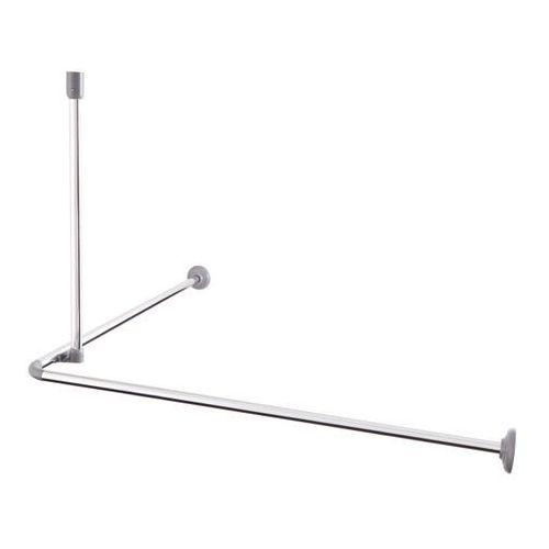 Cooke&lewis Drążek prysznicowy nira kątowy 80 x 80 cm 20 mm chrom (3663602966876)