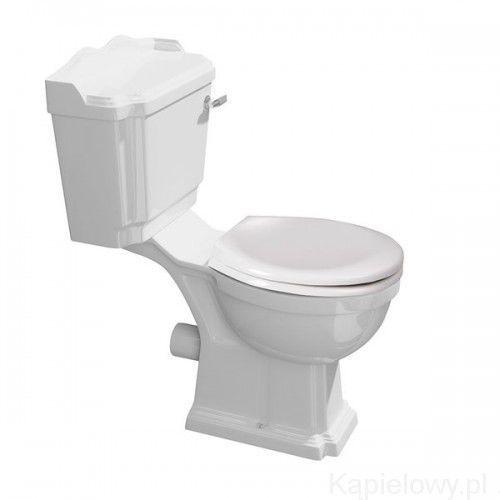 Antik miska wc kombi odpływ poziomy ak104 marki Aqualine