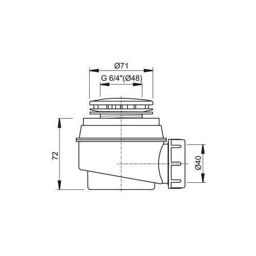 Alcaplast Syfon brodzikowy fi 60 a47cr (1)