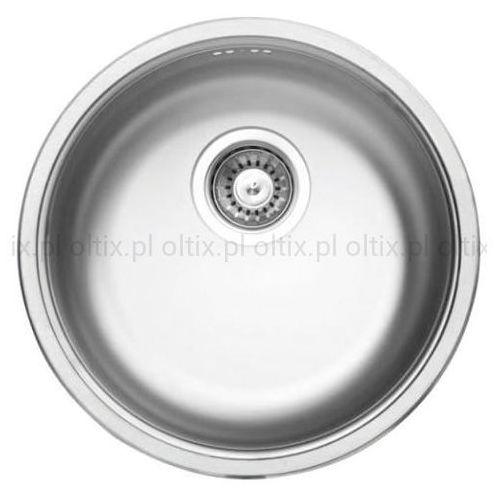 Cornetto zlewozmywak 1-komorowy okrągły bez ociekacza stal dekor zhc 3803 marki Deante