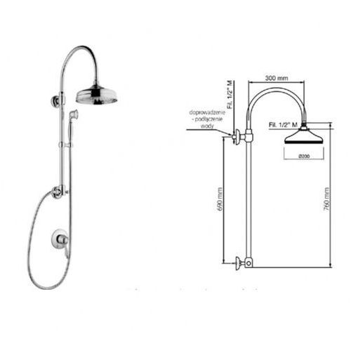 Giulini G Harmony zestaw prysznicowy 9515-01261 SKORZYSTAJ Z DODATKOWYCH RABATÓW NA WYBRANE FABRYKI