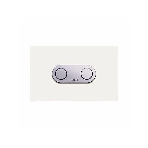 Koło przycisk spłukujący pneumatyczny Cameleon do stelaża Koło Technic GT do WC, szkło białe 94153001