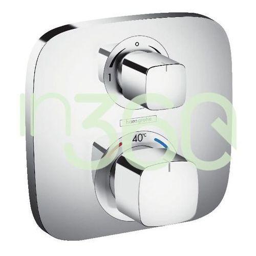 ecostat e bateria termostatyczna z zaworem odcinająco-przełączającym, montaż podtynkowy, element zewnętrzny chrom 15708000 marki Hansgrohe