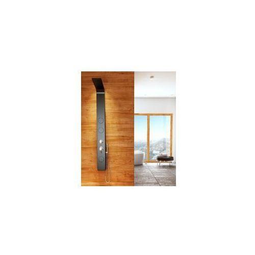 Rea 8721 aluminiowy panel prysznicowy, czarny