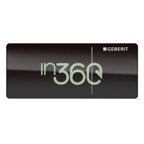 Geberit Omega70 Przycisk uruchamiający, zdalny, meblowy, czarny 115.083.SJ.1