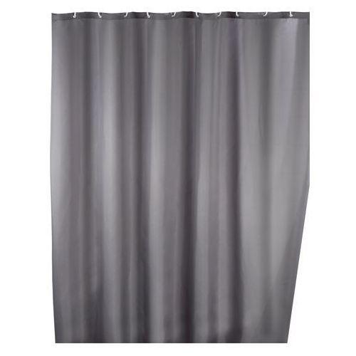 Zasłona prysznicowa, tekstylna, szara, 180x200 cm, marki Wenko
