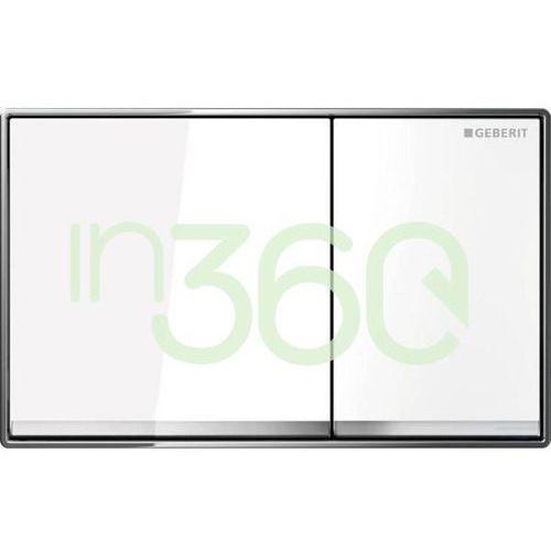 omega 60 przycisk uruchamiający, do spłukiwania dwudzielnego, zlicowany z powierzchnią ściany 115.081.si.1 marki Geberit