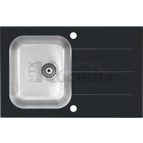 QUADRON zlewozmywak KEANU 111 czarny / odpływ stalowy (HB9031SC)
