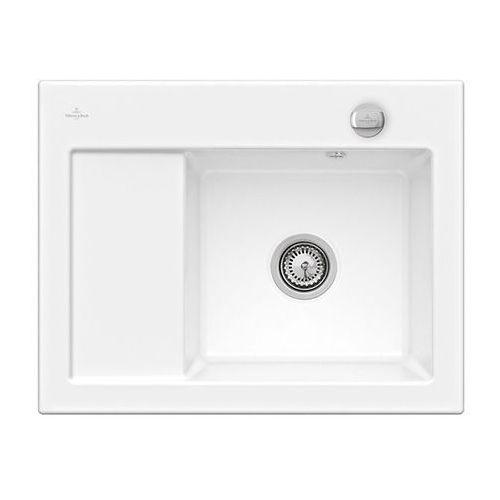 Zlew ceramiczny subway 45 compact - kg snow white (błyszczący) \ prawa \ automatyczny marki Villeroy & boch
