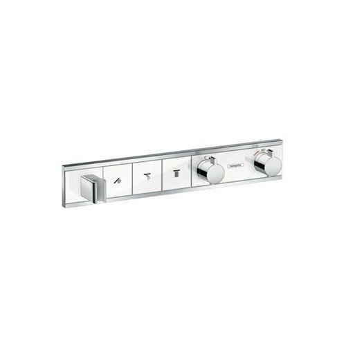 bateria termostatyczna do 3 odbiorników, montaż podtynkowy, element zewnętrzny rainselect biały/chrom 15356000 marki Hansgrohe