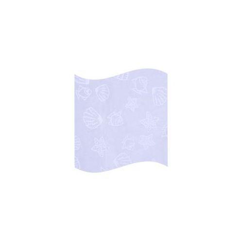 Awd interior zasłonka prysznicowa biała z białym nadrukiem awd02101125