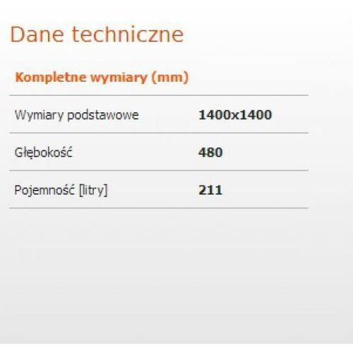 Sanplast Space line 140 x 140 (610-100-0650-01-000)