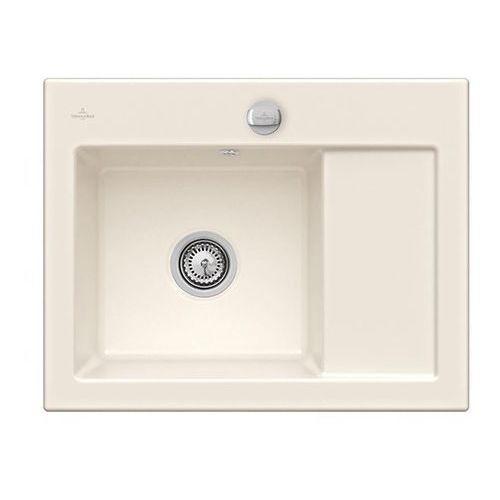 Villeroy & boch Zlew ceramiczny subway 45 compact - kr crema (błyszczący) \ lewa \ automatyczny