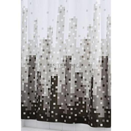 SKYLINE poliestrowa zasłona prysznicowa 180x200 cm 47367 (4006956473673)