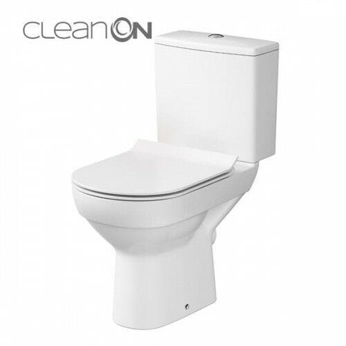 Cersanit kompakt city clean on poziomy (zbiornik 010 + deska slim duroplast wolnoopadająca) k35-037