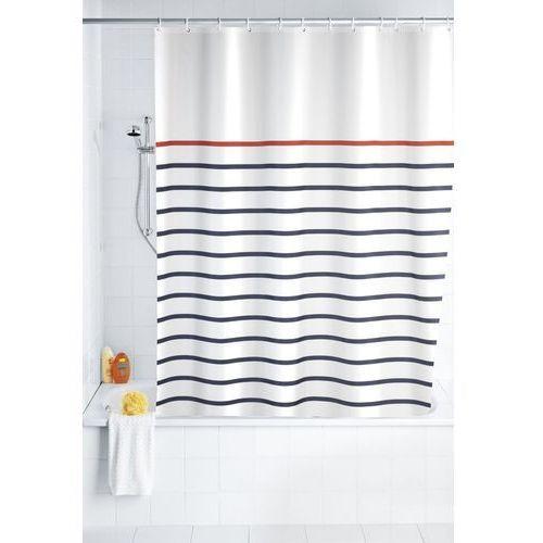 Zasłona prysznicowa, tekstylna, Marine White, 180x200 cm, B00NGZ7GG2