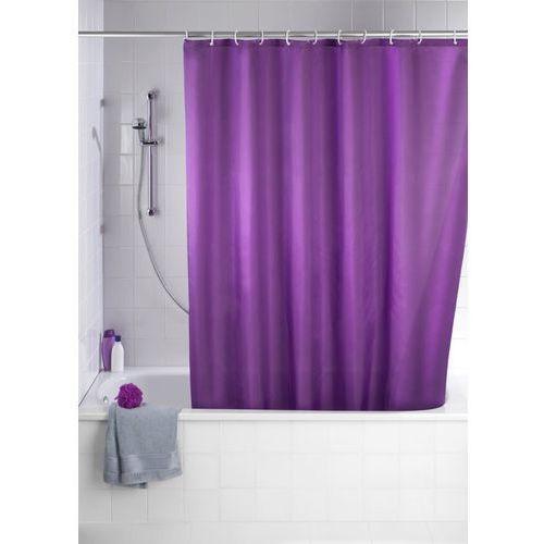 Wenko Zasłona prysznicowa, tekstylna, kolor fioletowy, 180x200 cm, (4008838120460)