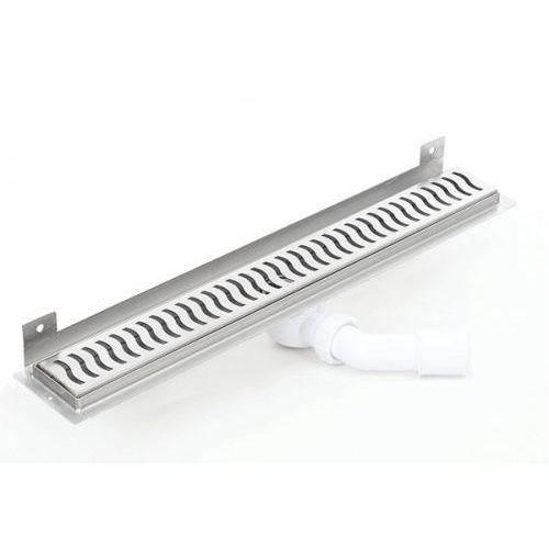 Kesmet wall silver wave odpływ ścienny 1000kwf_p 1000mm (syfon plastikowy)