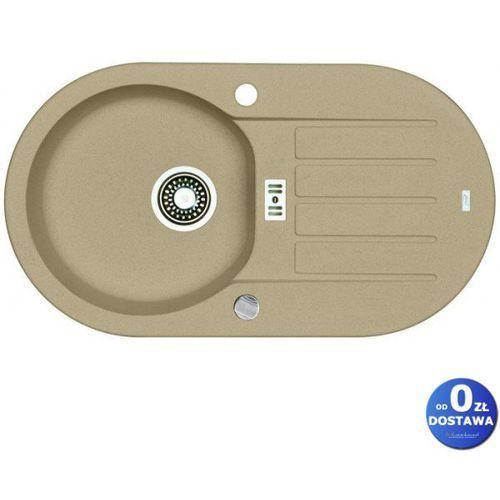 Zlewozmywak niagara 40 beż 1-komorowy z ociekaczem + syfon automatyczny marki Alveus