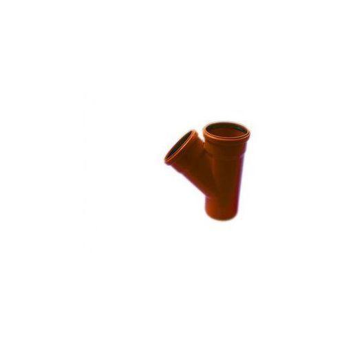 Poliplast Trójnik kanalizacji zewnętrznej kz 110 x 110 / 45°
