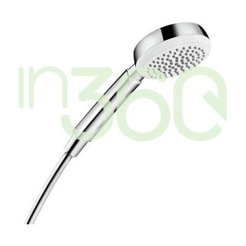 Hansgrohe Crometta 100 słuchawka prysznicowa Crometta 100 1jet DN15 Biały/Chrom 26825400