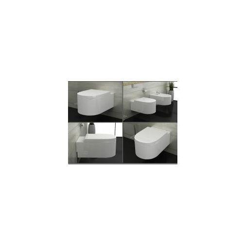 LORENT Miska WC wisząca + deska duroplast wolnoopadająca