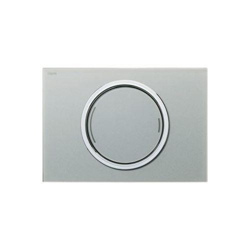 Mepa zero ozdobny 2-ilościowy przycisk spłukujący srebrny