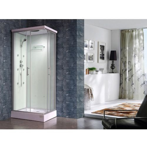 Vente-unique Prysznic z hydromasażem tyral - 2 strefy z dyszami masującymi - l90 x l 70 x wys.212 cm - funkcja deszcz tropikalny i mała głowica prysznicowa