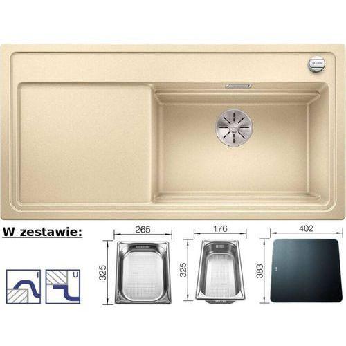 Zlewozmywak ZENAR XL 6S Steamer System Plus Silgranit PuraDur szampan prawa komora z deską szklaną i pojemnikami GN (4020684688710)