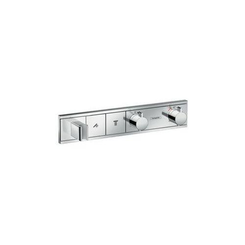 Hansgrohe bateria termostatyczna do 2 odbiorników, montaż podtynkowy, element zewnętrzny biały/chrom RainSelect 15355400