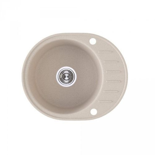 Zlewozmywak granitowy Noxe beż z półociekaczem 46x58x16 cm + syfon automatyczny