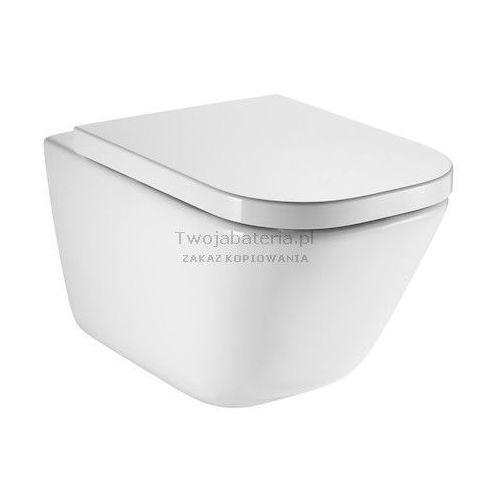 gap miska wc wisząca rimless z deską wc wolnoopadającą a34h47c000 marki Roca