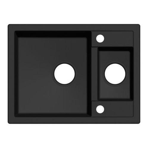 Zlewozmywak granitowy Cooke&Lewis Jayson 1 5-komorowy bez ociekacza czarny