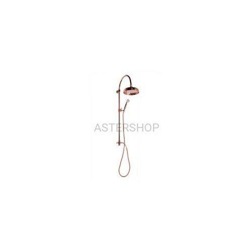 ANTEA Zestaw natryskowy z rączką prysznicową do baterii ściennej, kolor: różowe złoto SET037