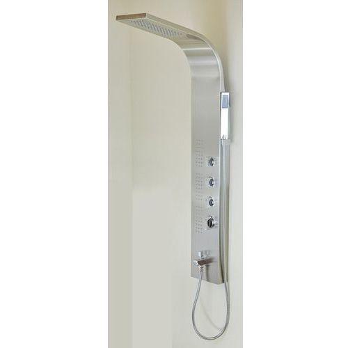 Panel prysznicowy CORSAN S-121T Amigo stalowy z wylewką i z termostatem