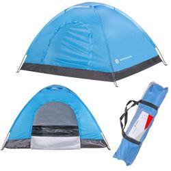 Namiot turystyczny 2-osobowy niebieski z moskitierą i filtrem uv - dwuosobowy marki Springos