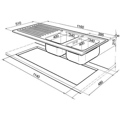 Smeg piano design lpd116s (komora z prawej strony) (8017709076405)