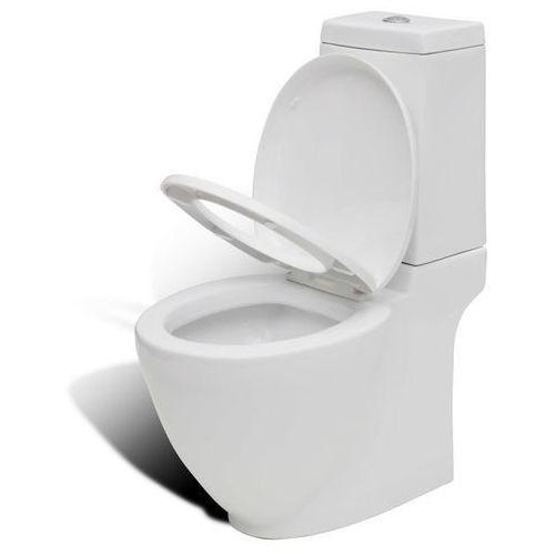 Miska klozetowa, toaleta, ze zbiornikiem, nowoczesny design marki Vidaxl