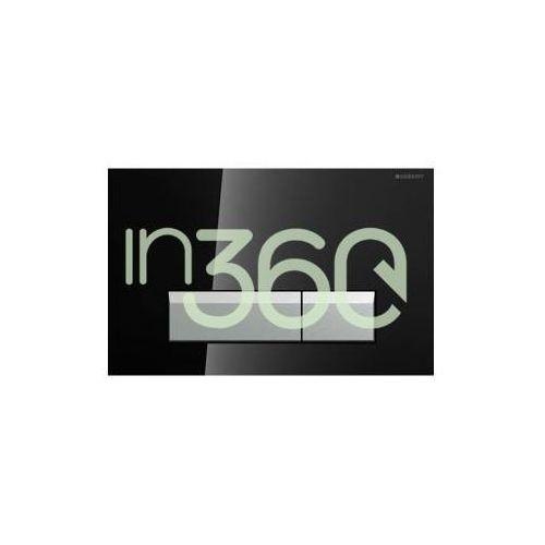 Geberit Sigma40 przycisk do WC z funkcją odciągu powietrza szkło czarne/aluminium 115.600.SJ.1