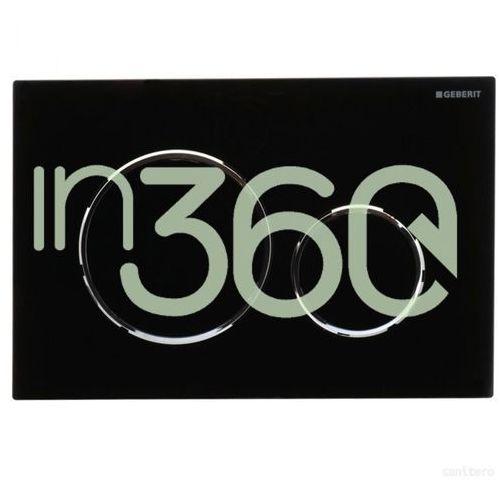Geberit Sigma20 przycisk uruchamiającyprzedni, czarny-chrom bł.-czarny 115.882.KM.1