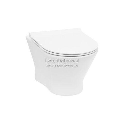 Roca Nexo miska WC wisząca Rimless z deską WC wolnoopadająca slim A34H64L000
