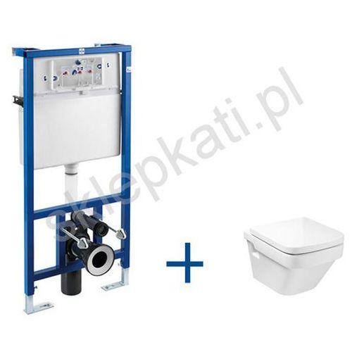 ROCA DAMA-N COMPACTO stelaż podtynkowy PRO + miska WC podwieszana Dama-N Compacto, kolor BIAŁY A89009000P