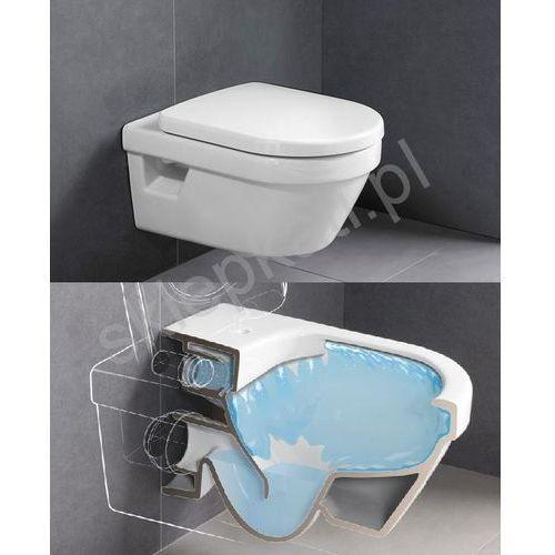 Villeroy&boch Architectura v&b combi-pack miska wc podwieszana directflush z deską sedesową wolnoopadającą odpływ poziomy weiss alpin - 5684hr01 (4051202242510)