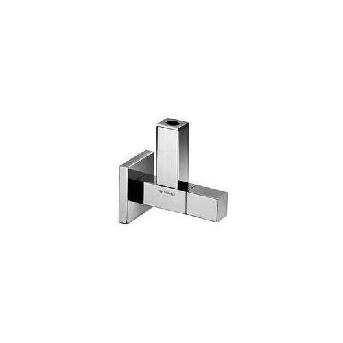 quad, zawór stylowy kątowy z osłoniętą złączką wylotową, całkowicie metalowy z głowicą sanitarną z komorą smarną, mosiądz, kolor -chrom 053620699 marki Schell