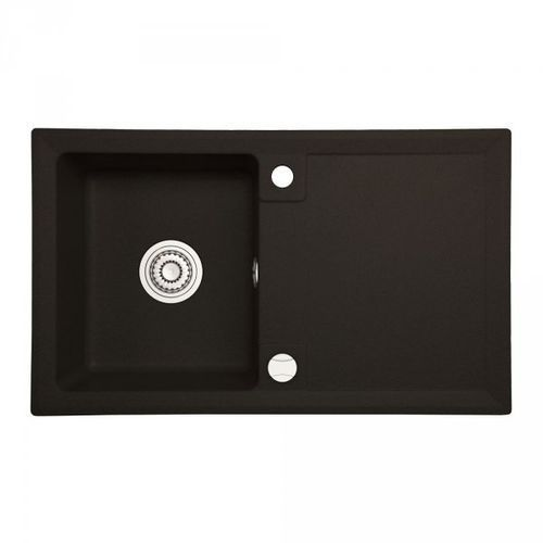 Zlewozmywak granitowy AXE czarny z ociekaczem 45x75 cm + syfon automatyczny