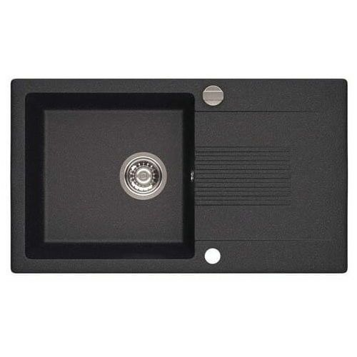 LAVEO CELIA Zlewozmywak granitowy 76x44cm, granit czarny SJC 711T * WYSYŁKA GRATIS!, kolor czarny