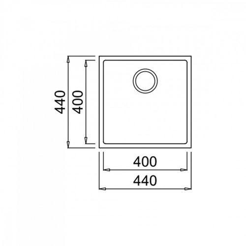 zlew podwieszany square 40.40 tg biały marki Teka