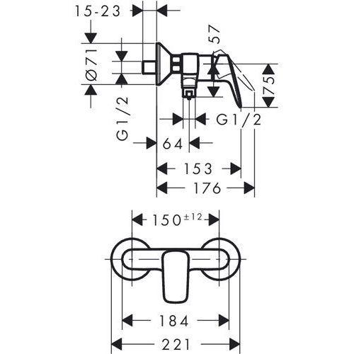 Bateria Hansgrohe Hansgrohe logis bateria prysznicowa 71600000 71600000