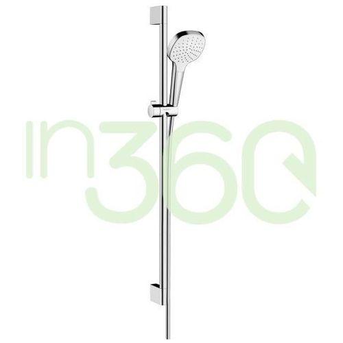 zestaw prysznicowy croma select e 1jet 0,90m biały/chrom 26594400 marki Hansgrohe